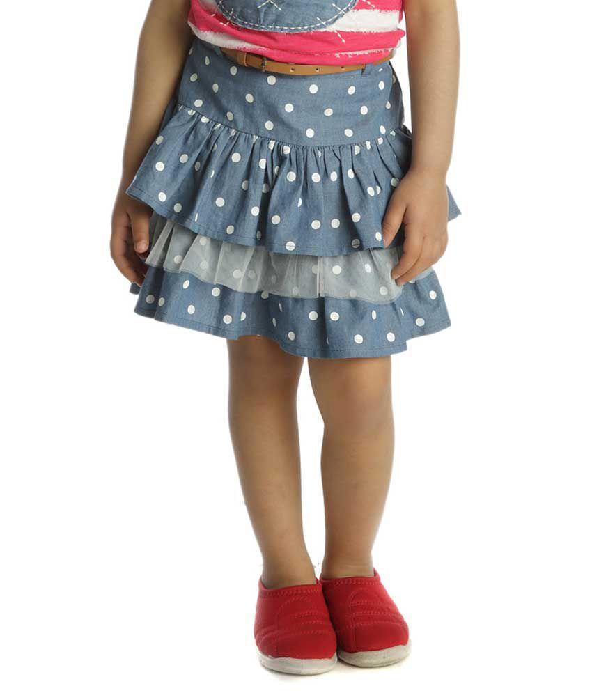 My Lil'Berry Blue Denim Skirts For Girls