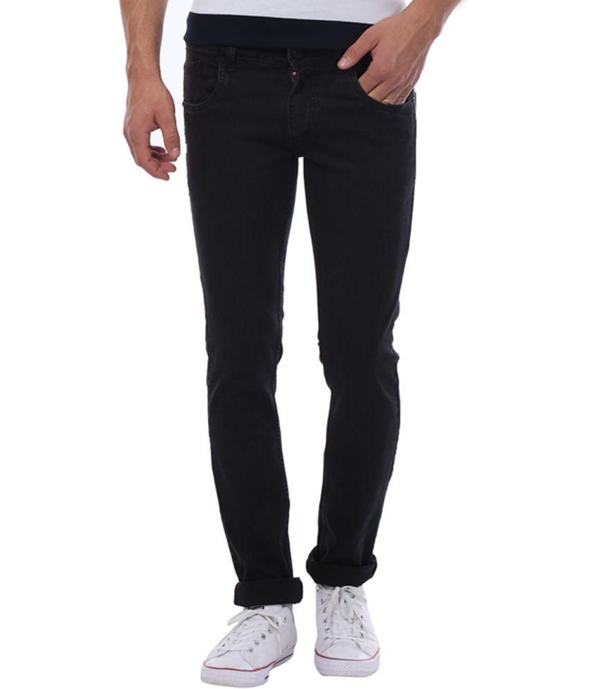 Vintage Black Skinny Fit Jeans
