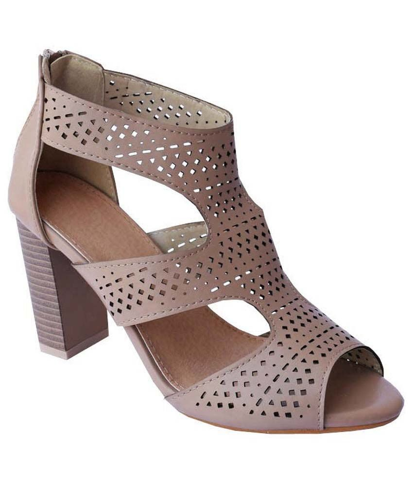 Madeinmyindia Brown Block Heels
