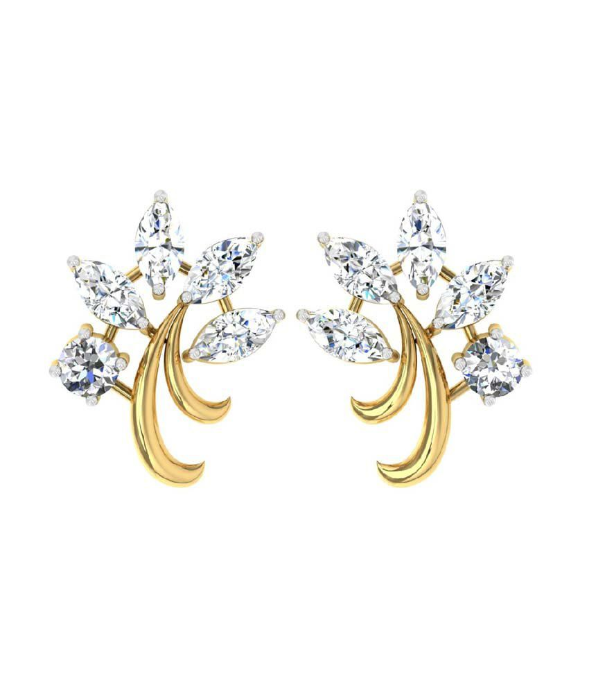 a80105c2b ... Stud Earrings with 0.43cts Diamonds: Buy TBZ-The Original 18Kt Yellow  Gold Daily Wear Stud Earrings with 0.43cts Diamonds Online in India on  Snapdeal