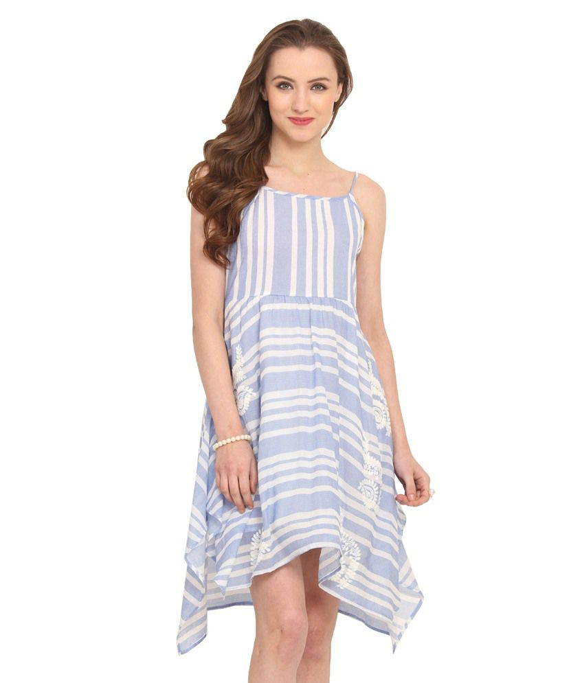 Label VR Blue Cotton Dresses