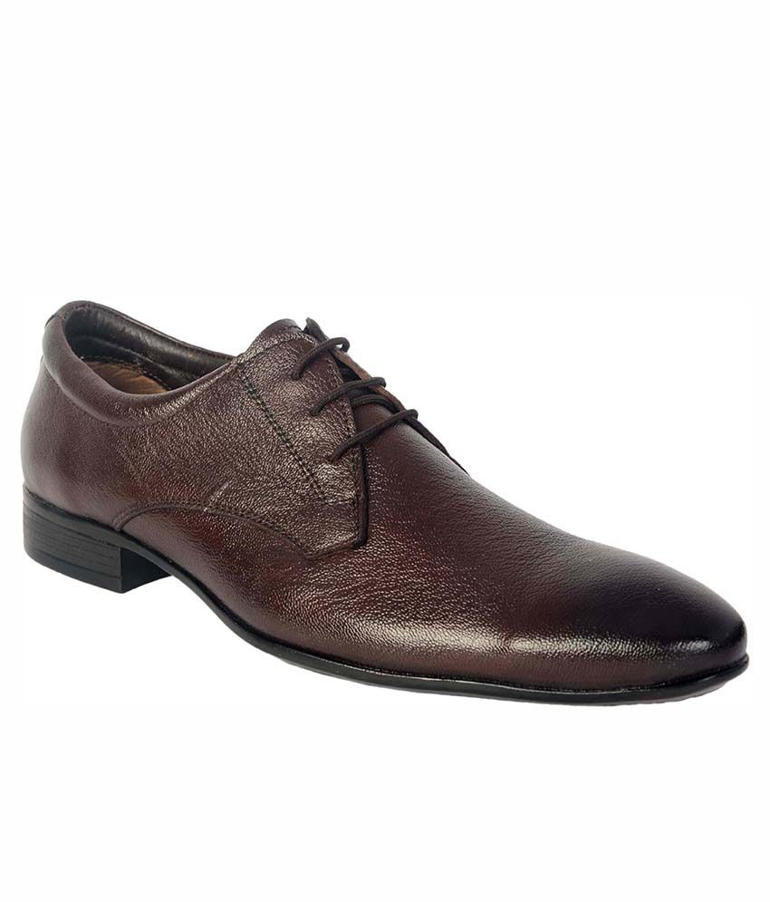 b5bbaa620d58ac ShoeAdda Brown Pure Leather Formal Shoe Price in India- Buy ShoeAdda Brown Pure  Leather Formal Shoe Online at Snapdeal