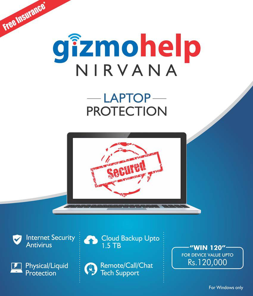 Gizmohelp Complete Laptop Insurance With Technical Support,Cloud