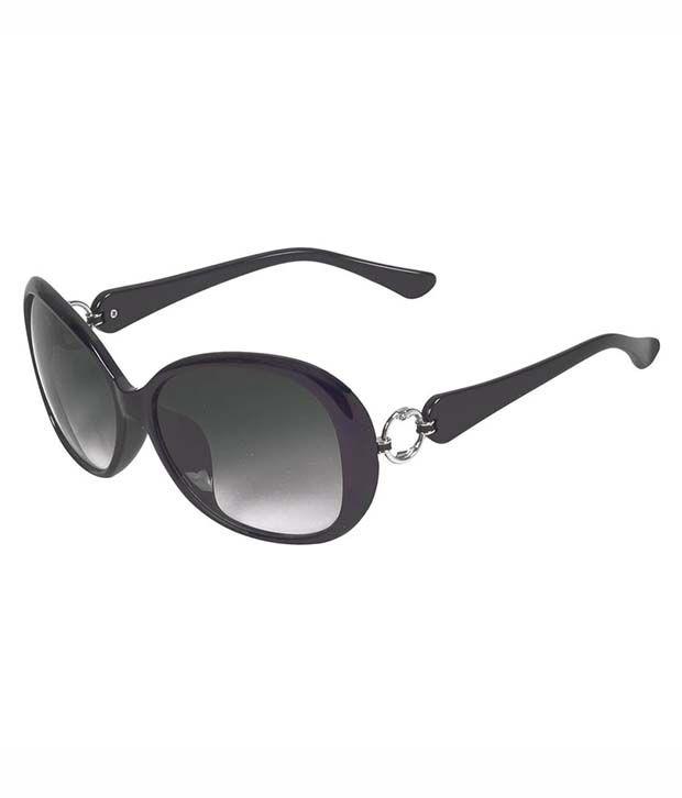 Hawai Black Oval Sunglasses