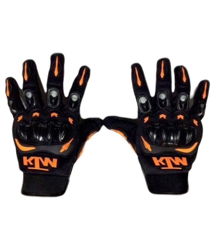 KTM Black MX Motocross Racing Gloves - Set of 2