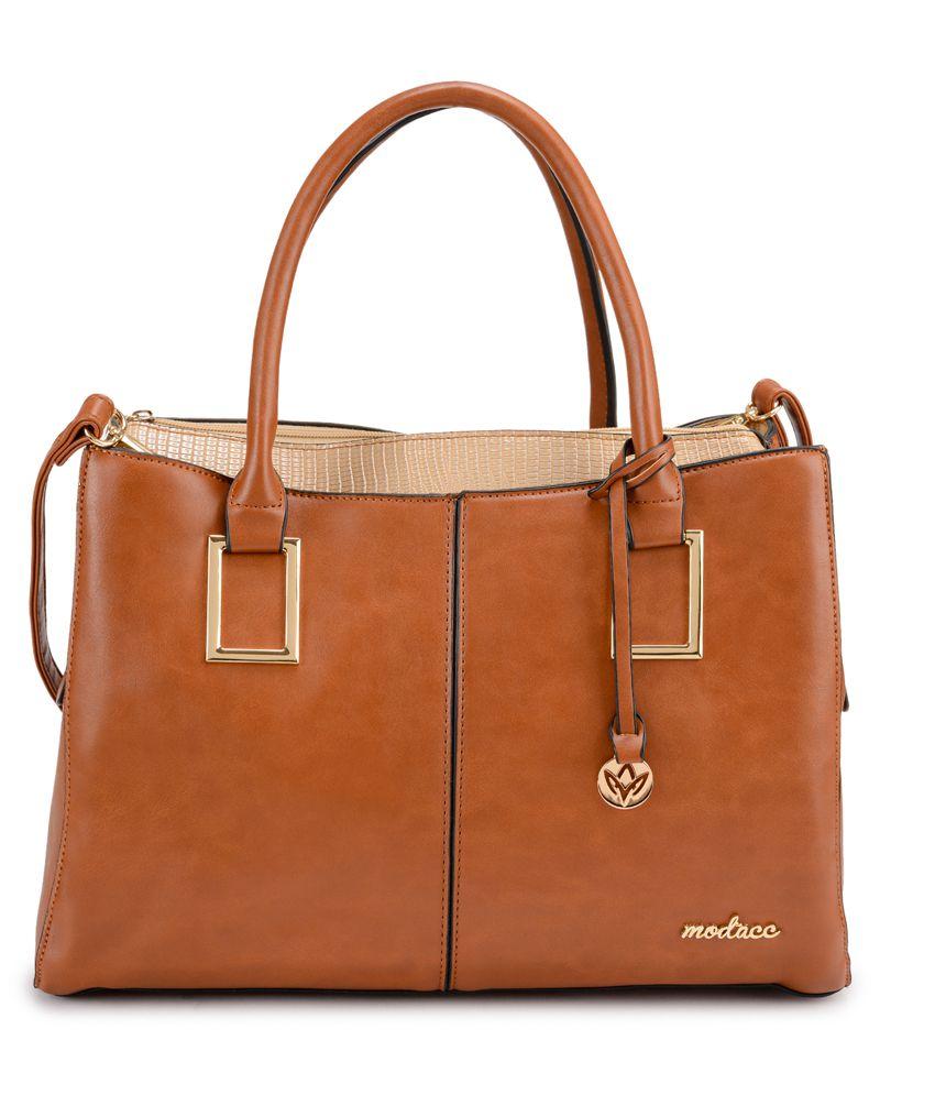 Mod'acc Brown P.U. Shoulder Bag