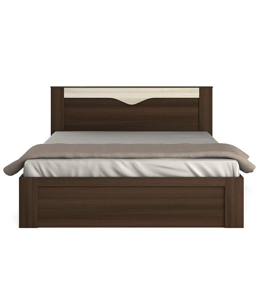 Spacewood Crescent Bedroom Set (Queen Storage Bed+ 3 Door Wardrobe ...