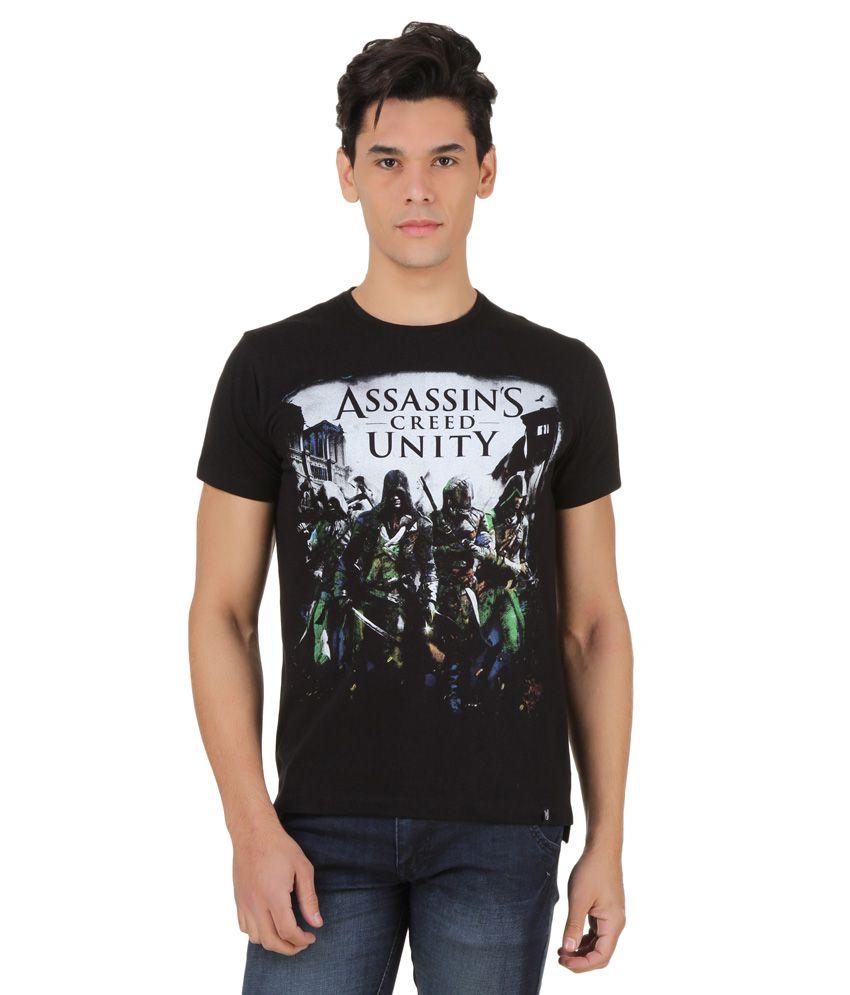 Assassin's Creed Black Printed T-Shirt
