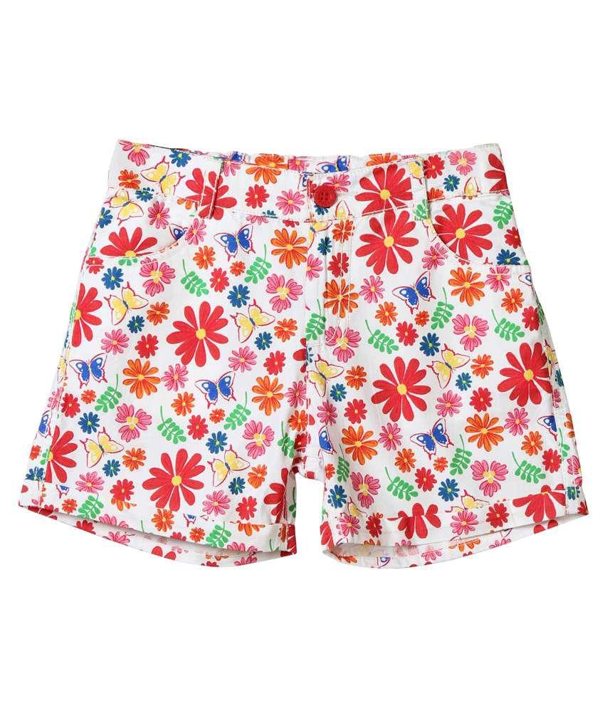 Beebay Multicolour Shorts For Girls