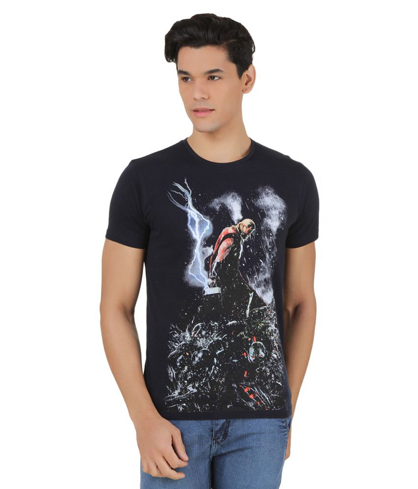 Marvel Comics Navy Printed T-Shirt