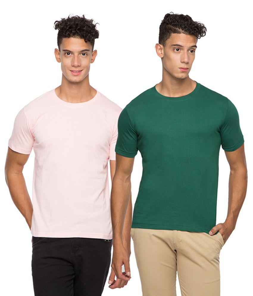 Afylish Pink Round T Shirts