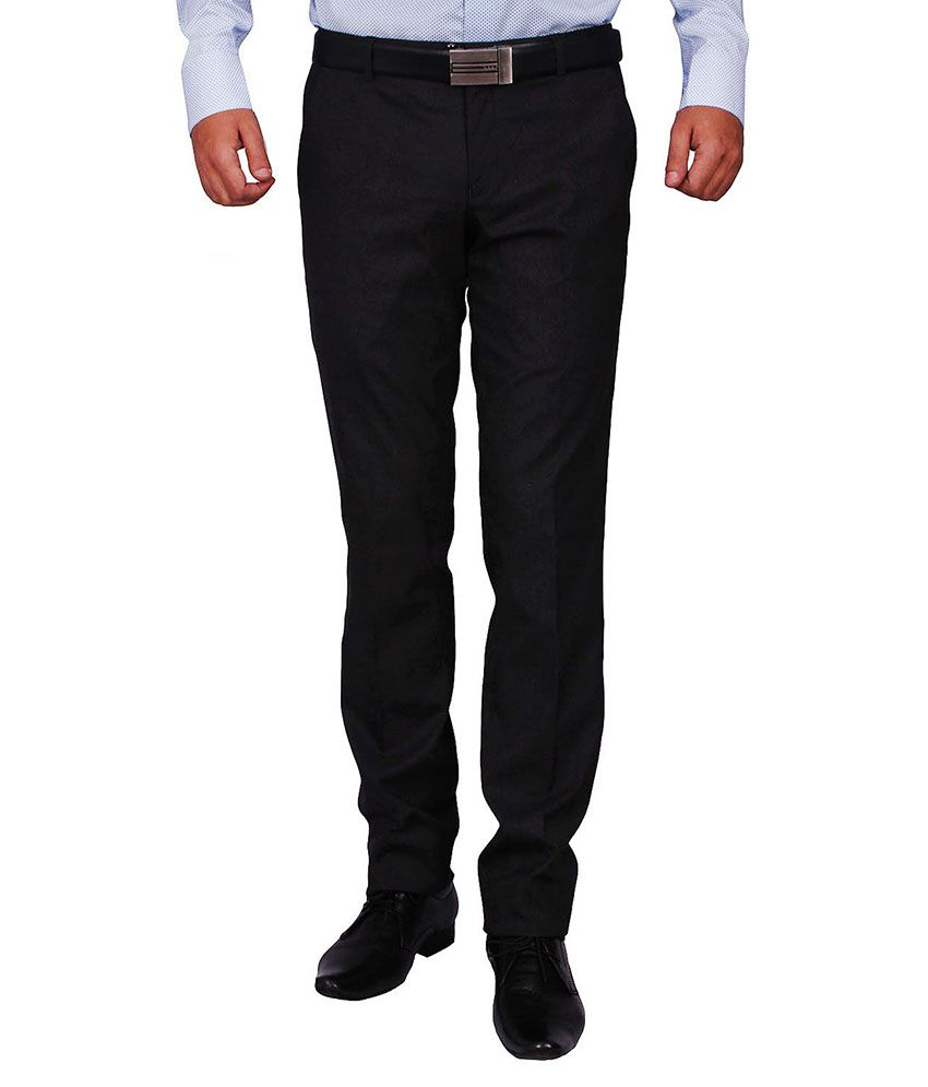 Dcode Brown Slim Fit Flat Trousers
