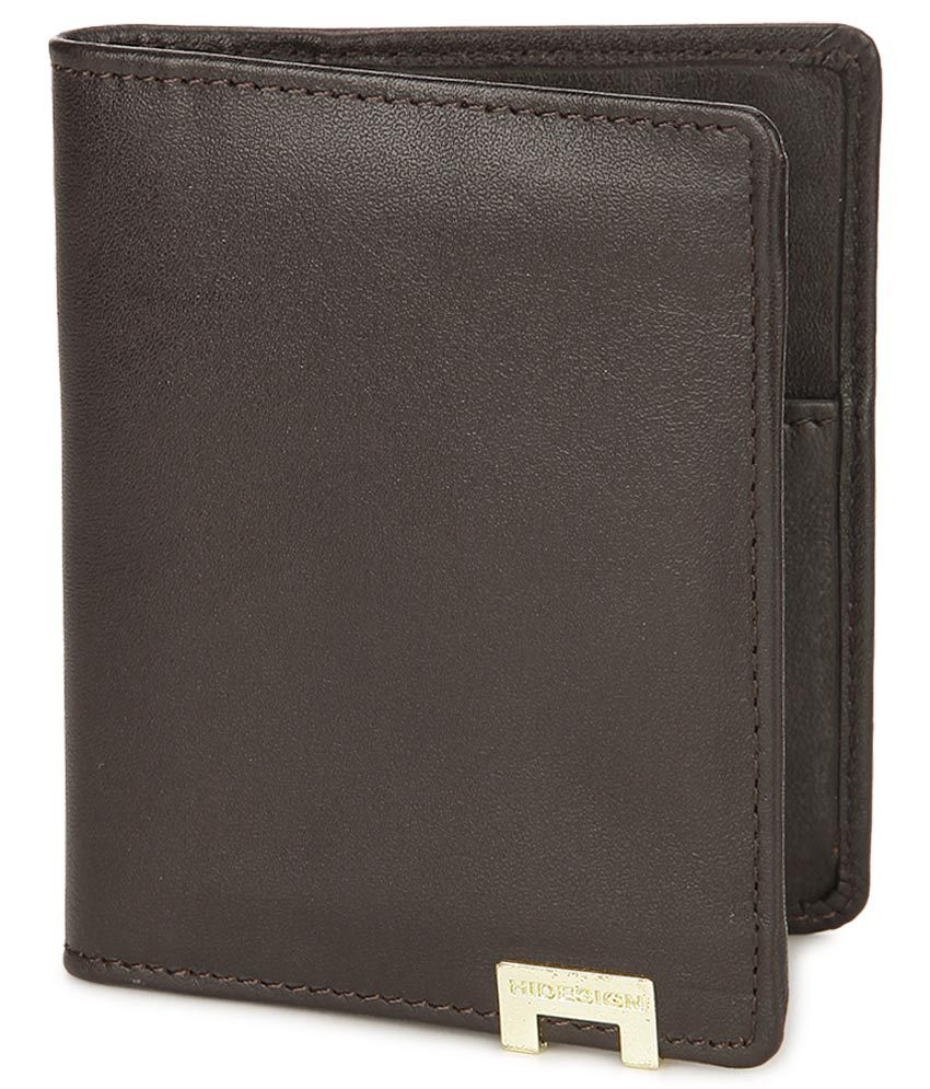 hidesign 268 ch brown leather men's card holder wallet