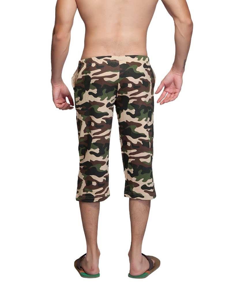 Clifton Fitness Men's Army Capri- Saffari