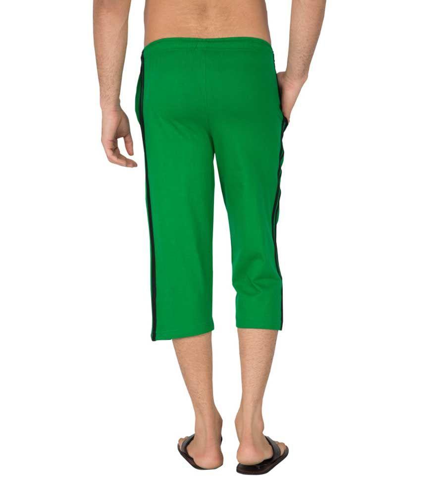 Clifton Fitness Men's Capri- Dark Green