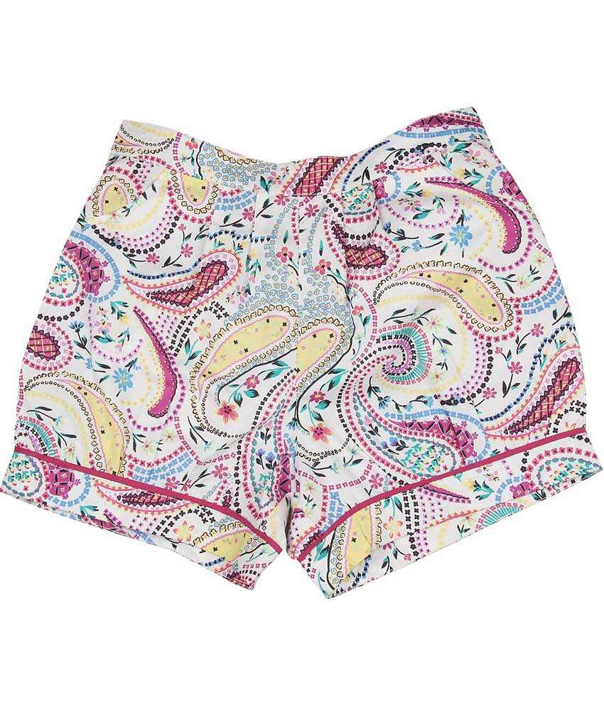 My Lil' Berry Pink Cotton Shorts For Girls