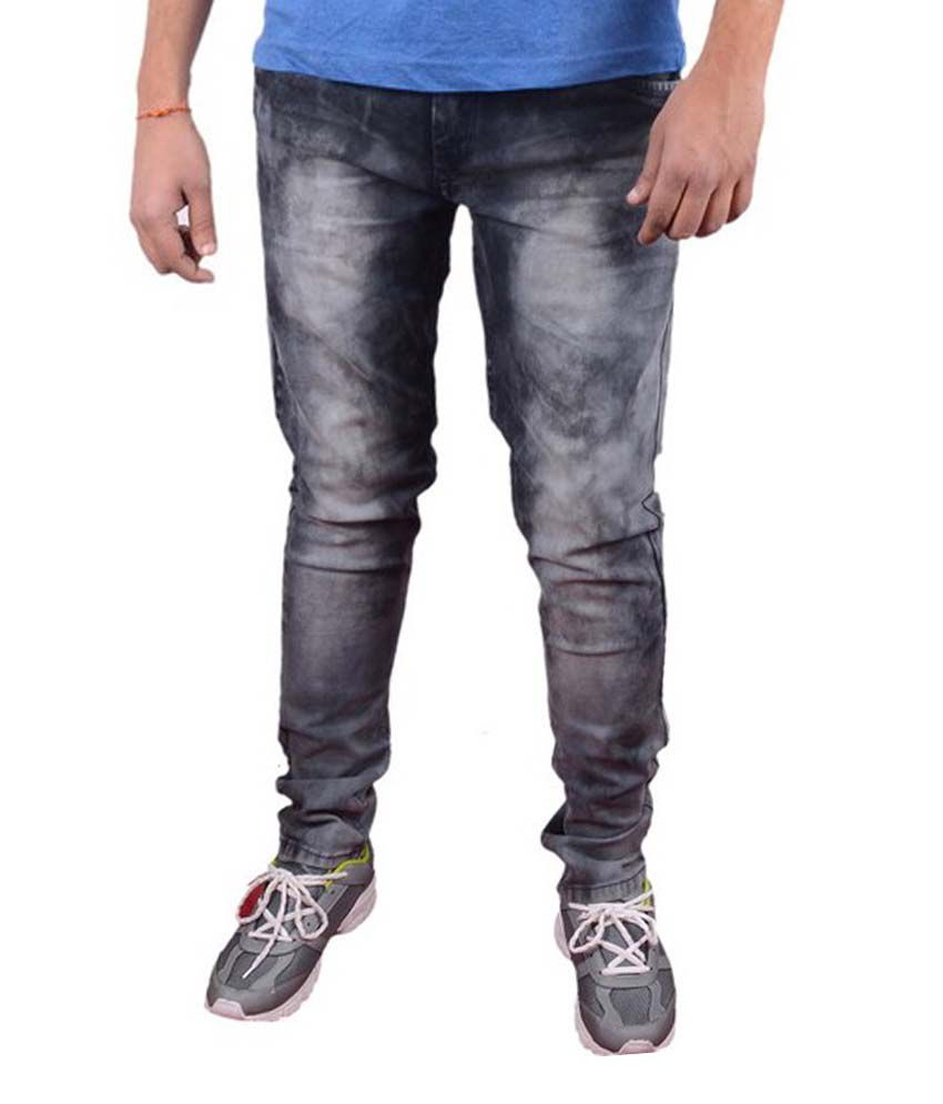 Sd Exports Black Slim Fit Jeans No