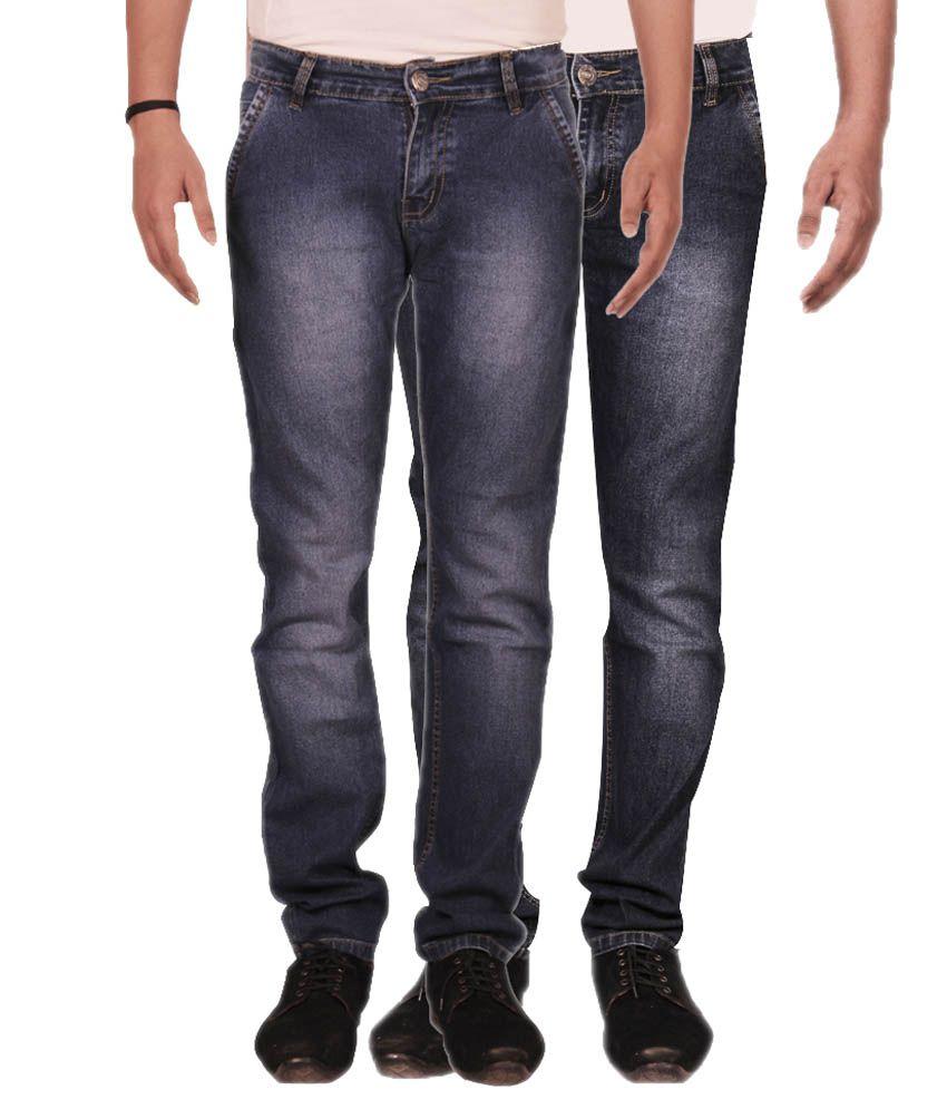 Fuego Blue Regular Fit Jeans Pack of 2