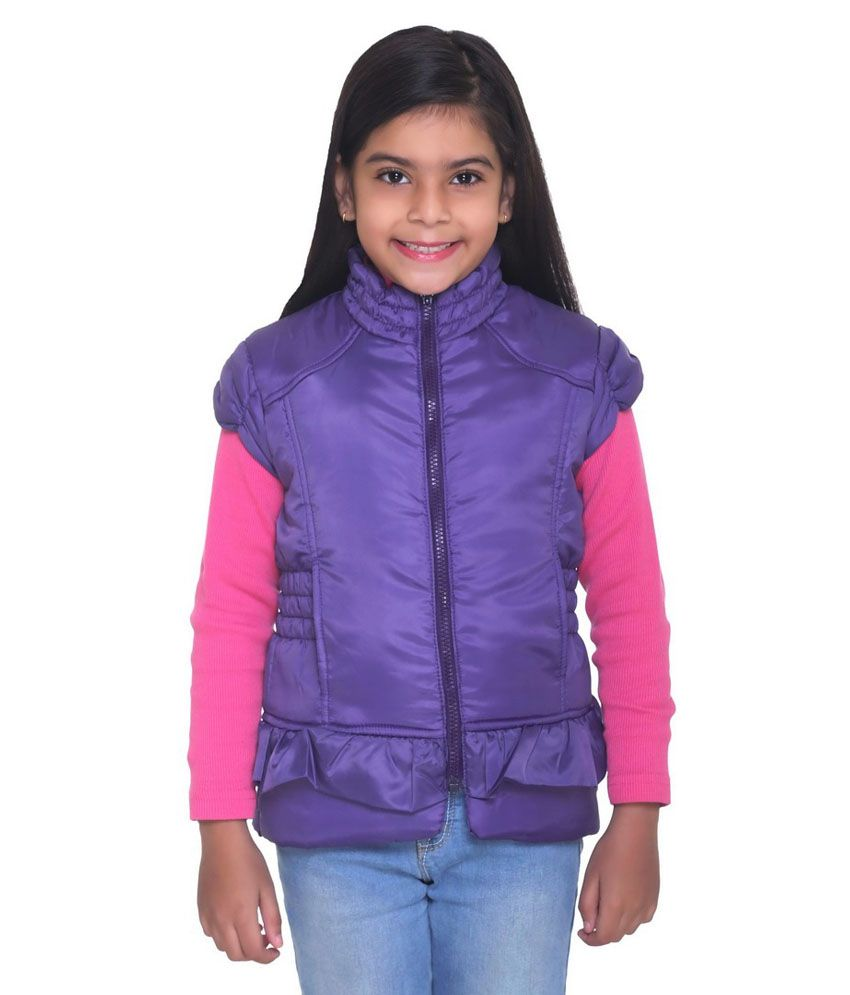 Kids-17 Purple Polyester Padded Jacket