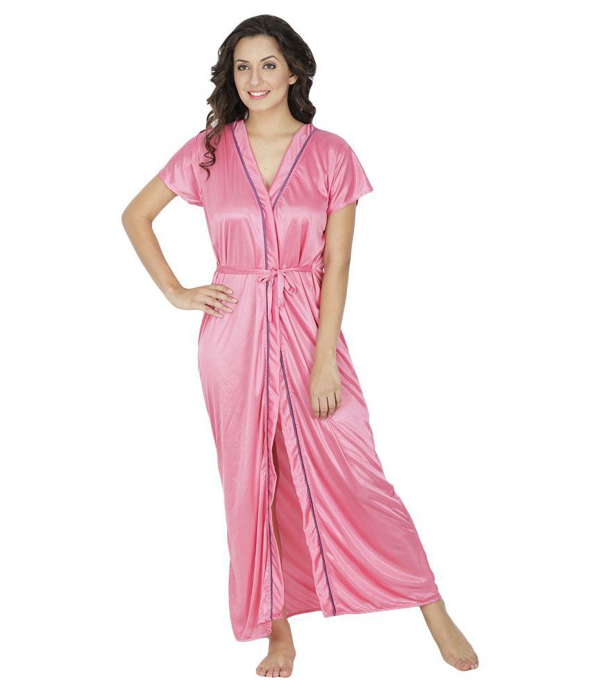 Klamotten Pink Satin Robe