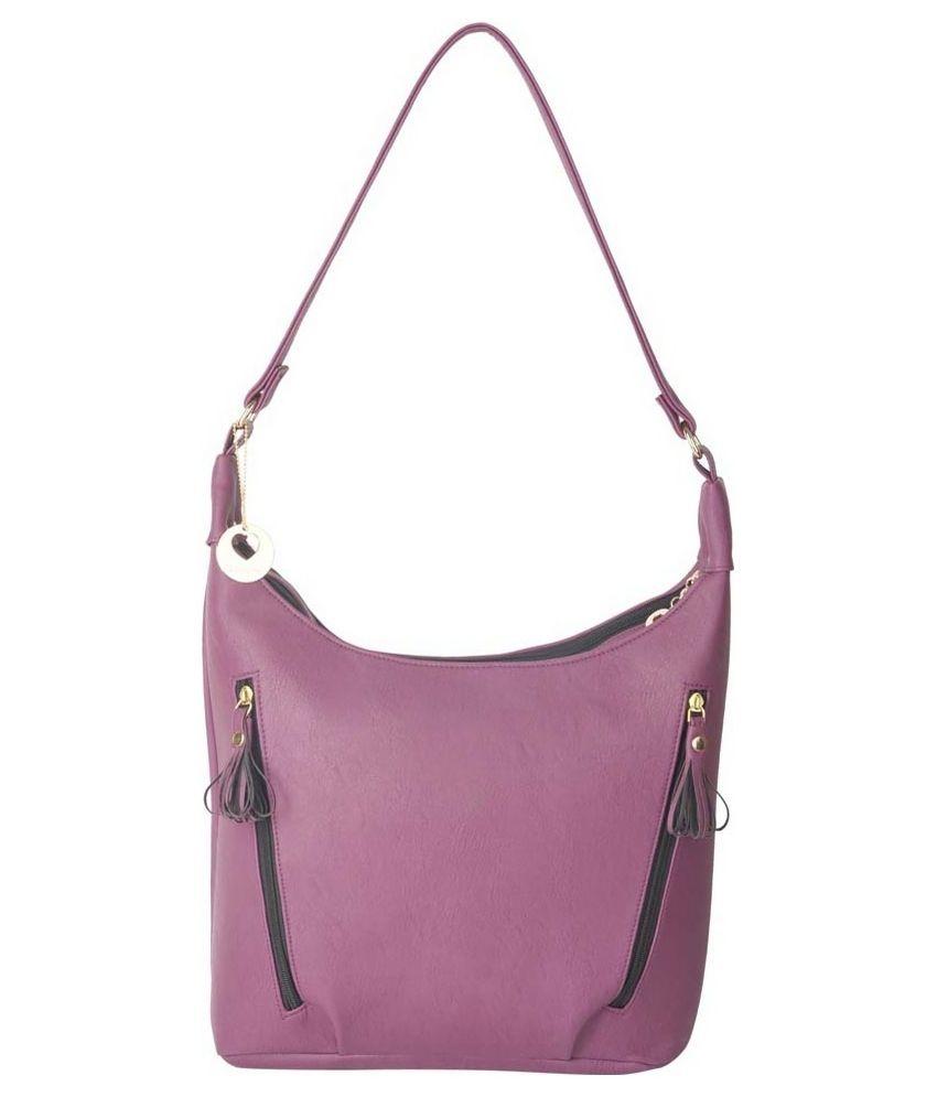 Lengloy Purple P.U. Shoulder Bag