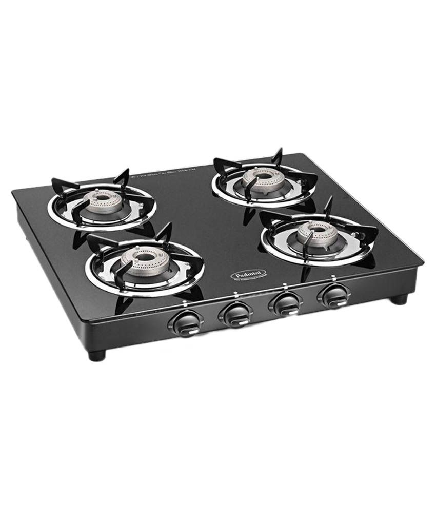 Padmini CS-4GT Cloud Crystal 4 Burner Gas Cooktop