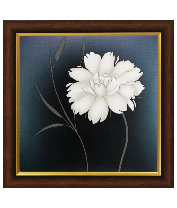 SAF Multicolour Floral Painting with Wooden Frame