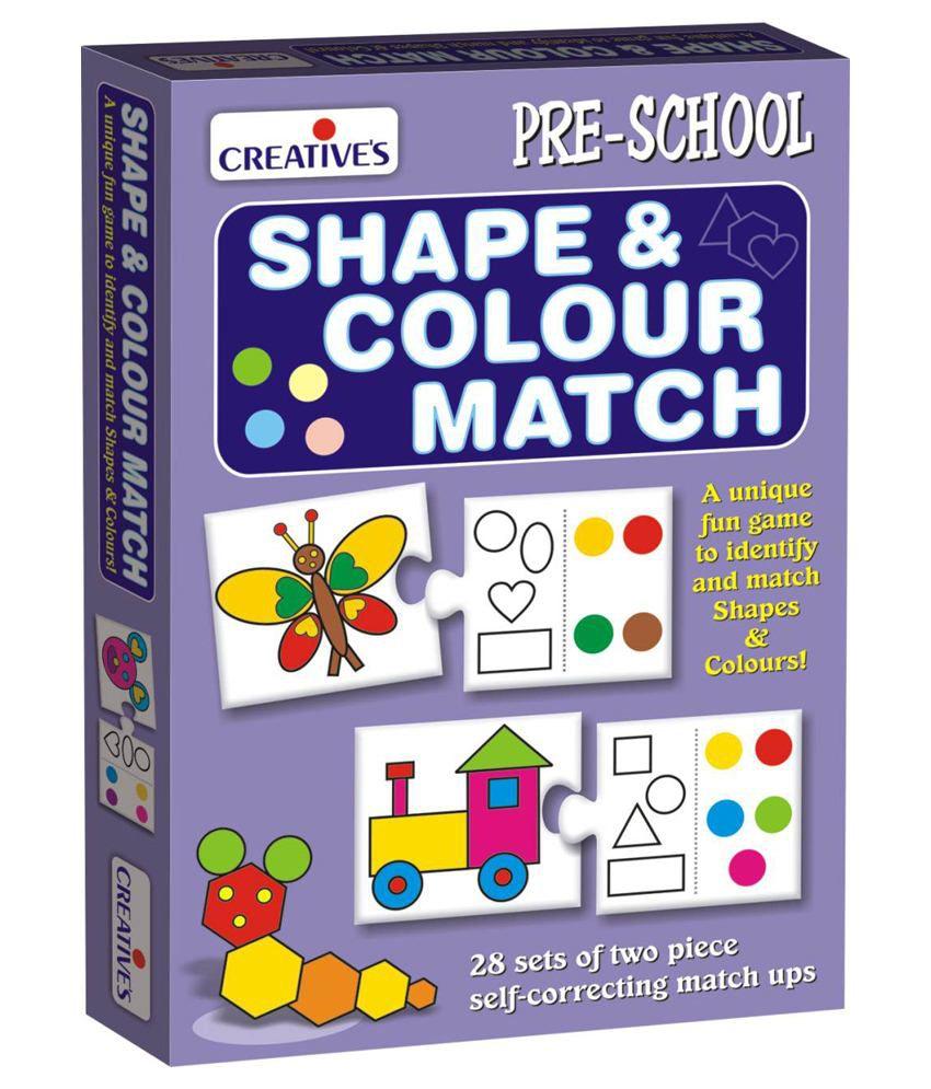 Creative's Multicolour 'Shape & Colour Match' Unique Fun Game For Pre-schooler's To Identify & Match Shapes & Colours. Game