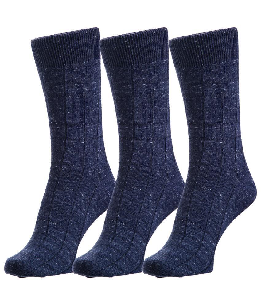 Hans Gray Cotton Full Length Socks for Men - 3 Pair Pack