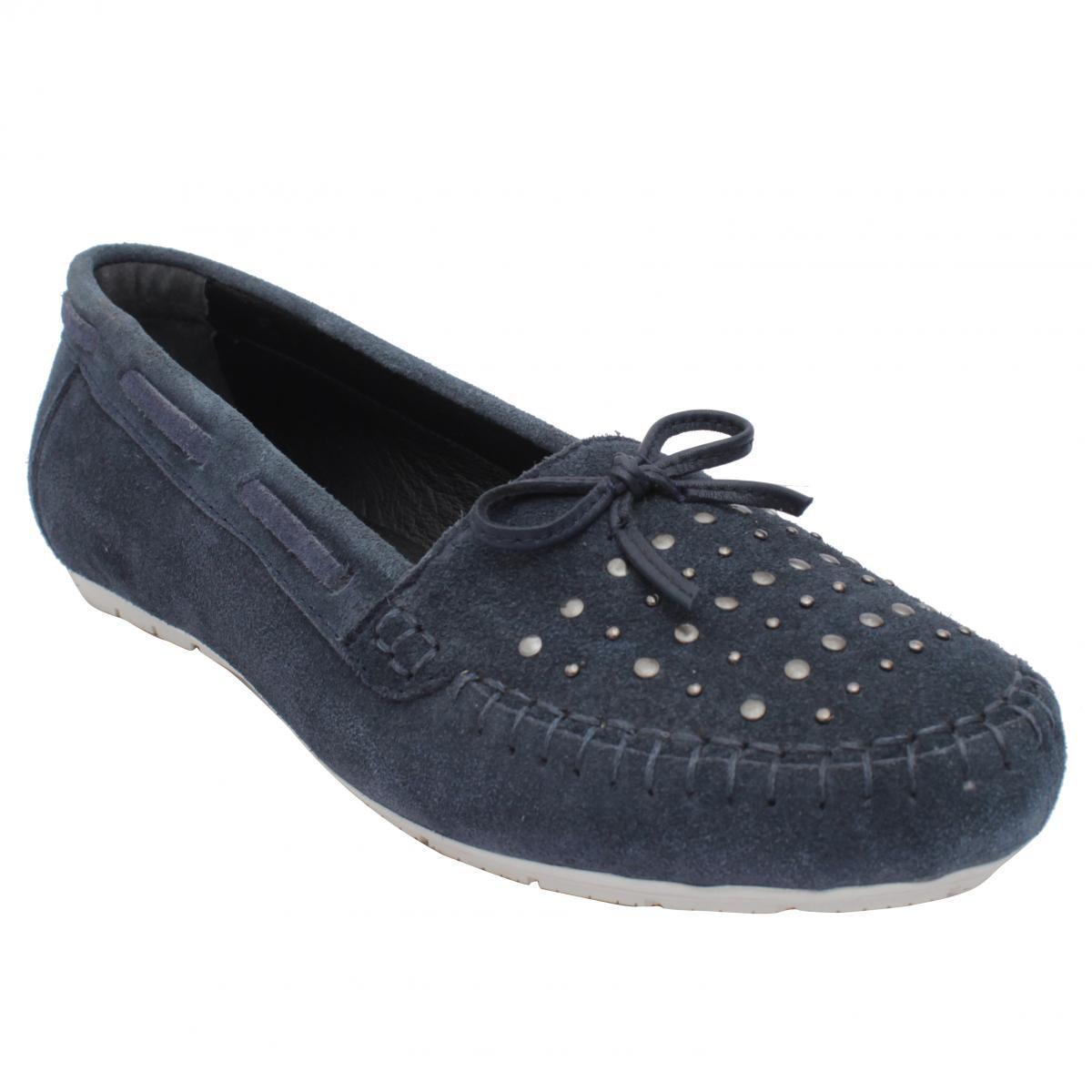 Salt N Pepper Navy Casual Shoes