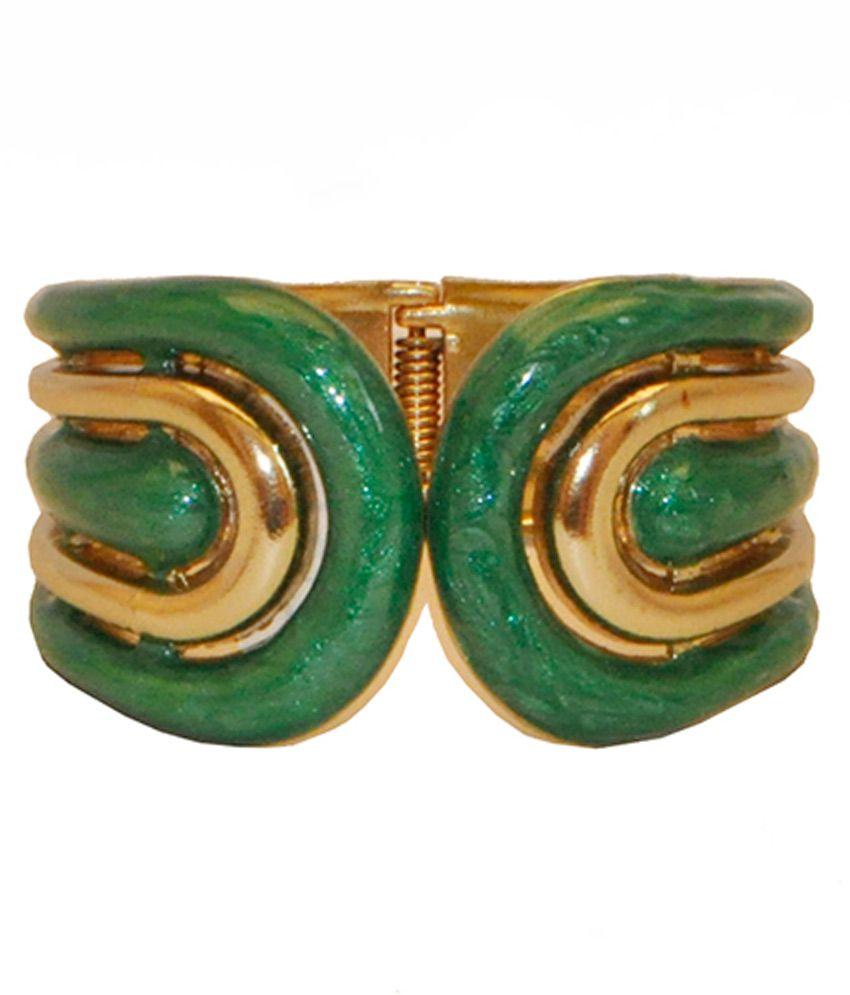 Women Trendz Green Acrylic Kada