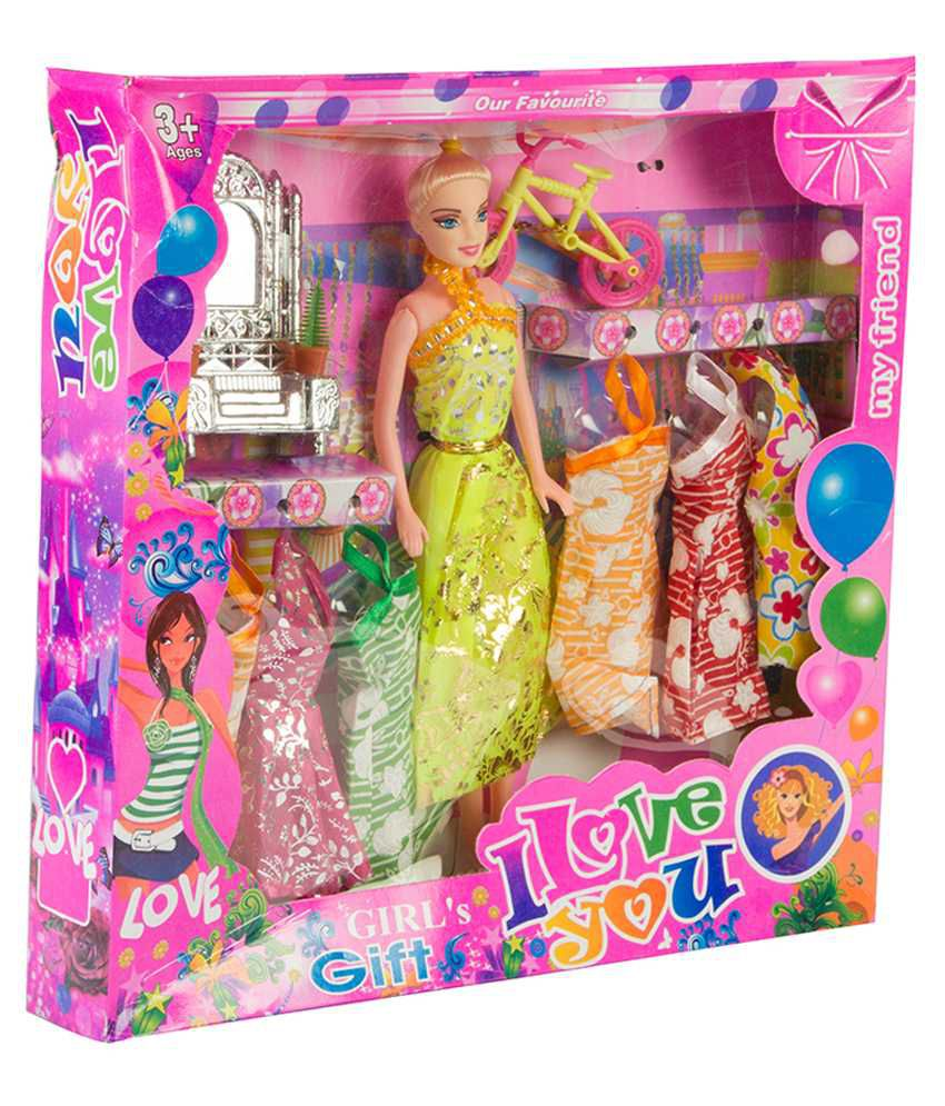 Mykidopedia Multicolour Doll Gift Set