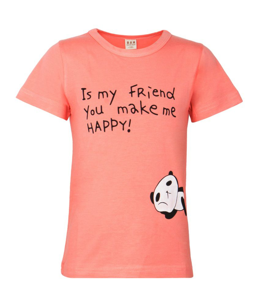 Zonko Style PeachPuff Half Sleeves baby tshirts