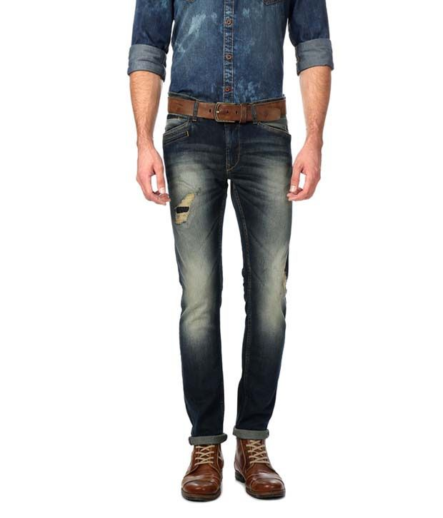 American Bull Blue Slim Fit Jeans