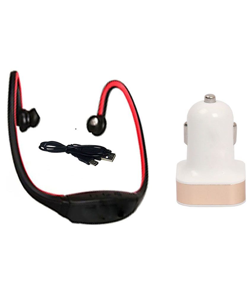 gatasmay bs19c bluetooth headset red with dual usb car charger buy gatasmay bs19c bluetooth. Black Bedroom Furniture Sets. Home Design Ideas