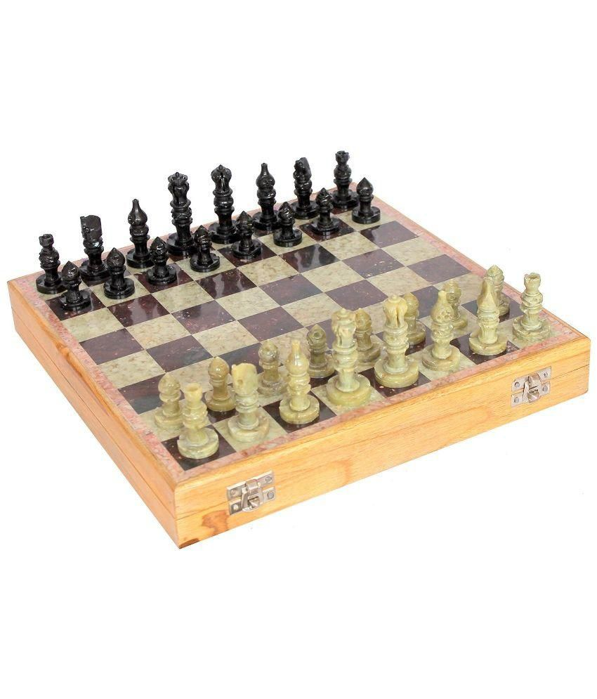 Kaushal Creation Multicolour Wood and Marble Chessboard