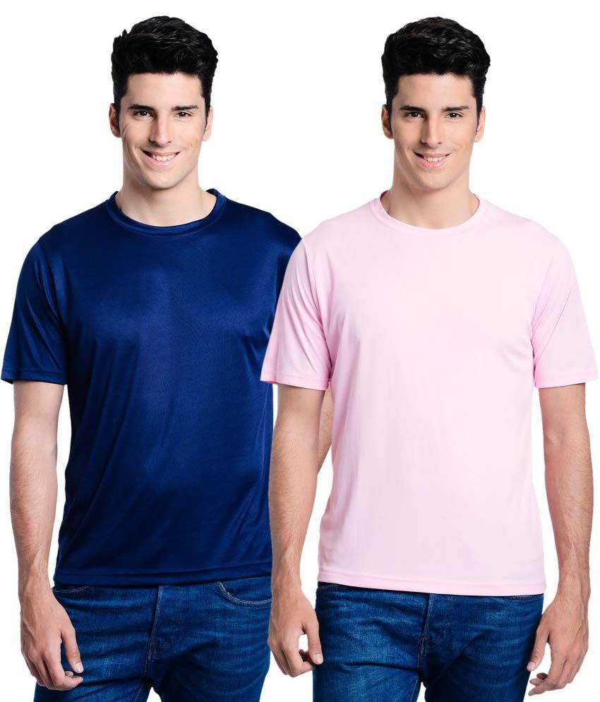 Lime Navy Round T Shirts Pack of 2