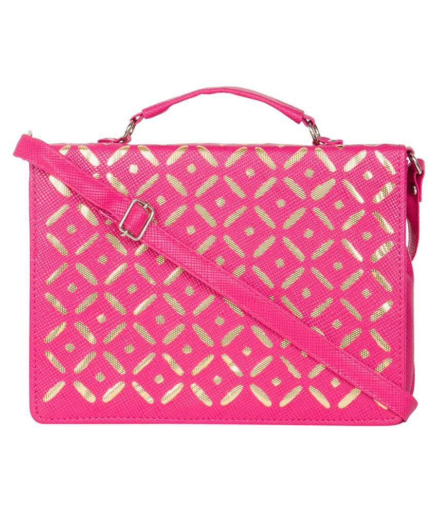 MTE Pink Synthetic Sling Bag