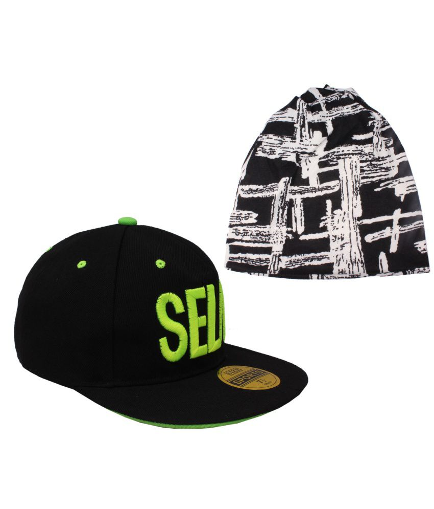 Jstarmart Combo of Multicolour Polyester Hip Hop Cap and Skull Cap for Men