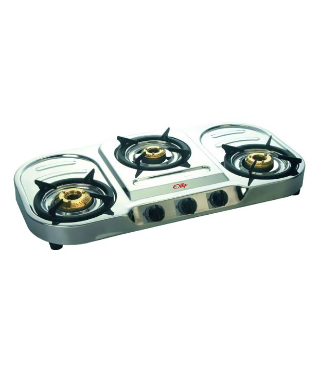 Olly PLUS Stainless Steal 3 Burner Manual Gas Cooktop