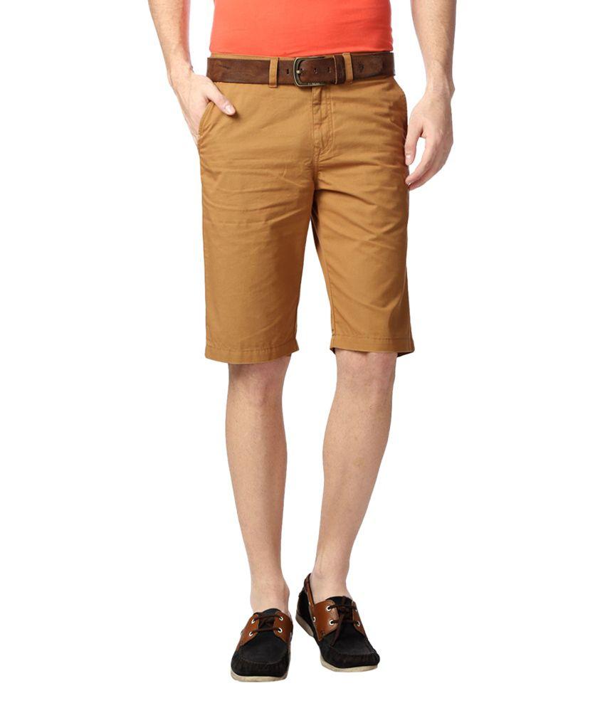 Peter England Khaki Shorts