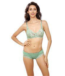 Lady Love Green Lace Bra & Panty Sets