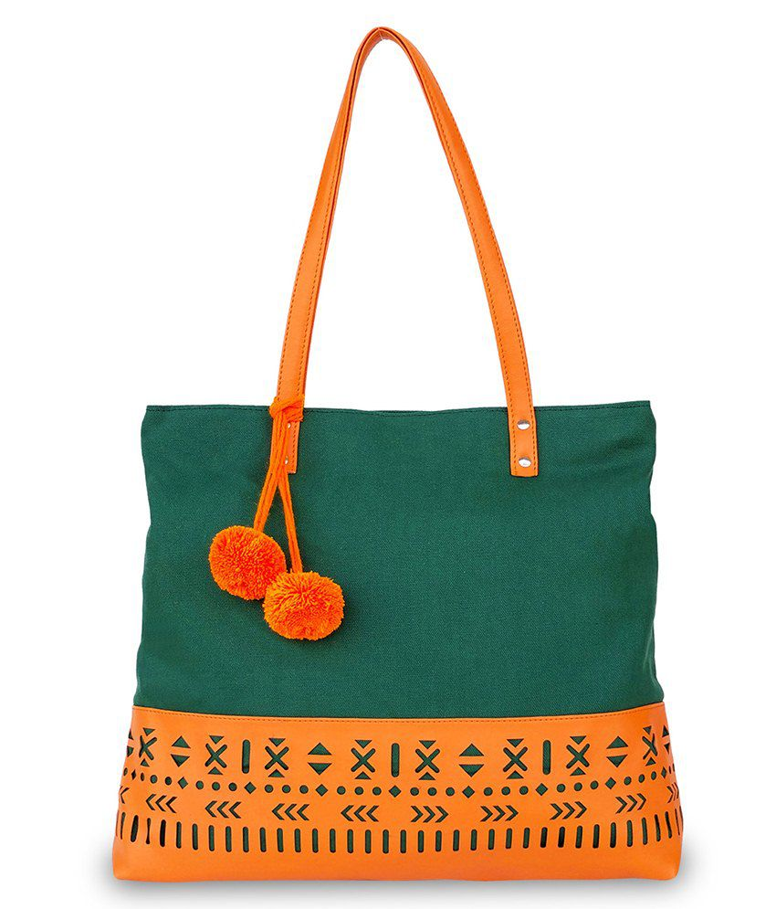 Lemon Trunk Green Canvas Tote Bag - Buy Lemon Trunk Green Canvas Tote Bag  Online at Best Prices in India on Snapdeal 2235b4bb51c60