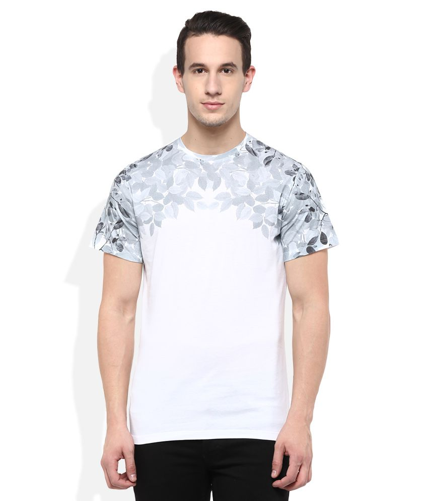 Parx Grey Printed T-Shirt