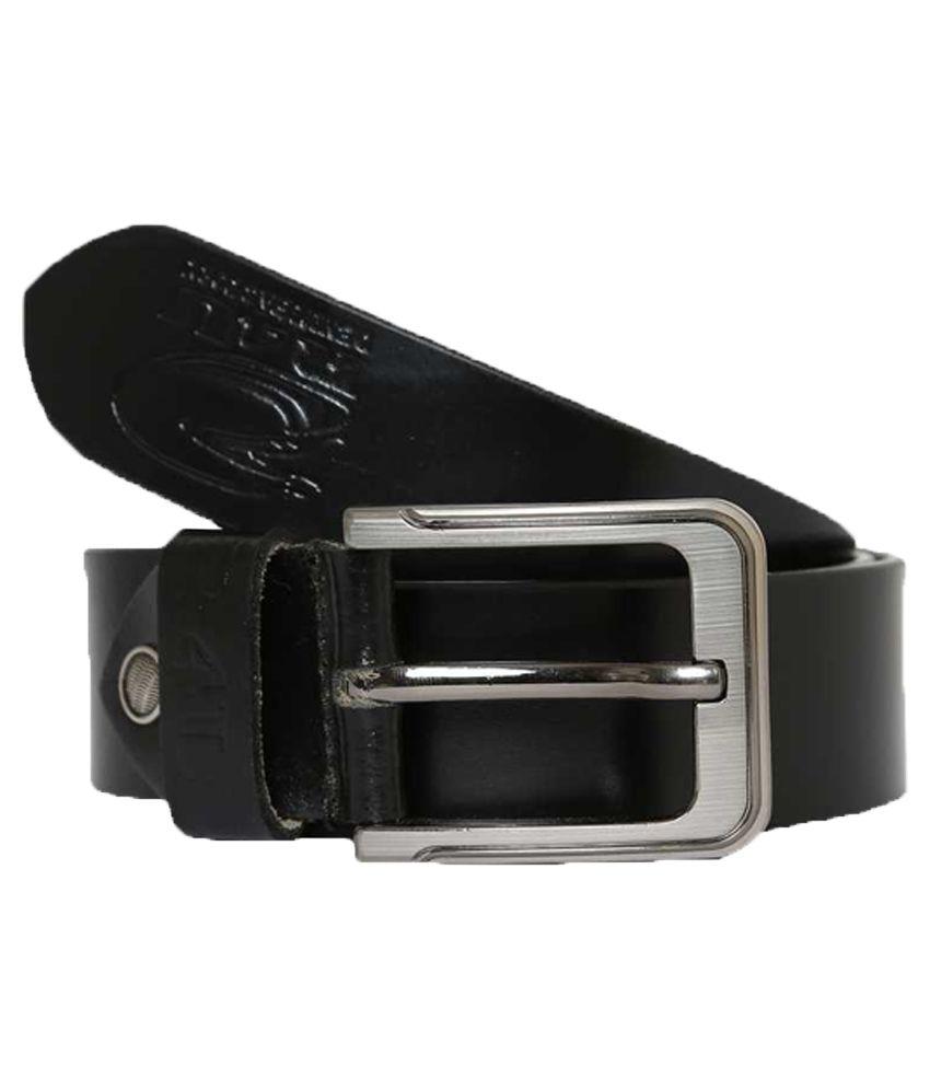 R4U Denim Factory Black Leather Belt For Men