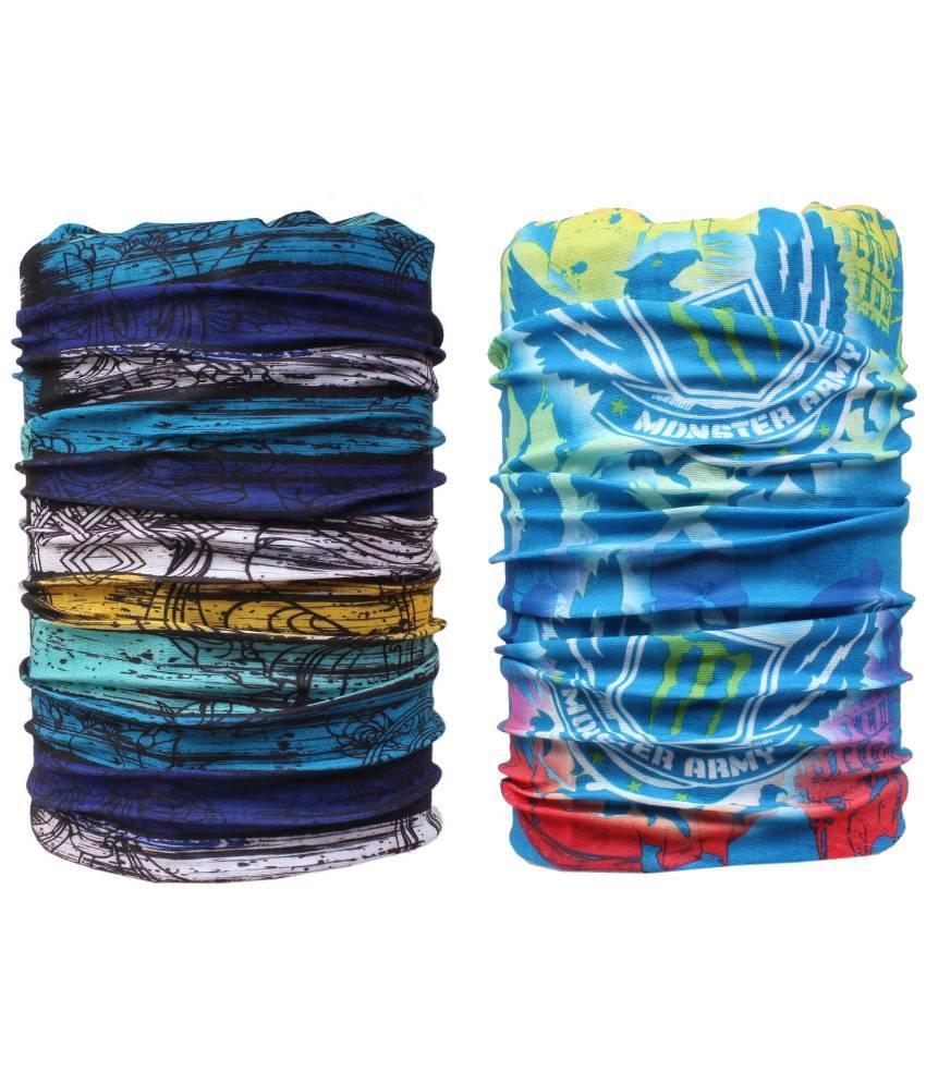 Sushito Multicolor Polyester Bandana - Set of 2