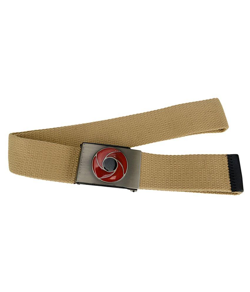 Genious Beige Canvas Casual Belt for Men
