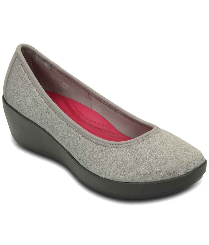 19922a4f1fca4 Crocs Gray Heeled Slip-on   Pump Relaxed Fit Price in India- Buy Crocs Gray Heeled  Slip-on   Pump Relaxed Fit Online at Snapdeal