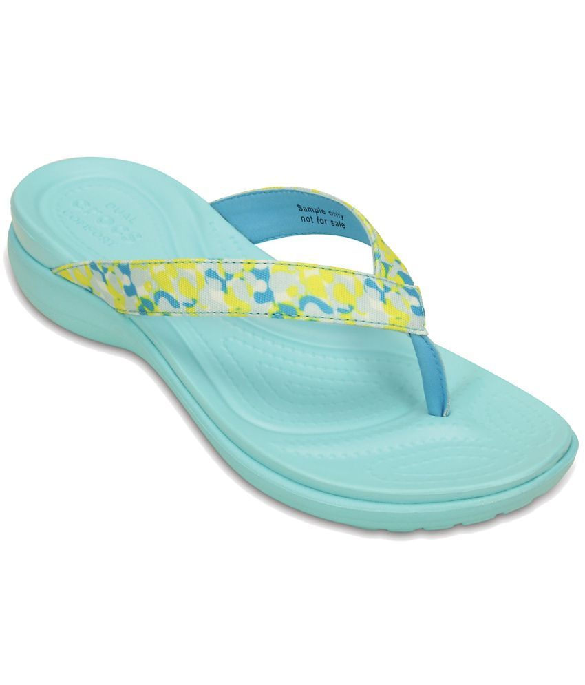 Crocs Yellow Slippers & Flip Flops Relaxed Fit