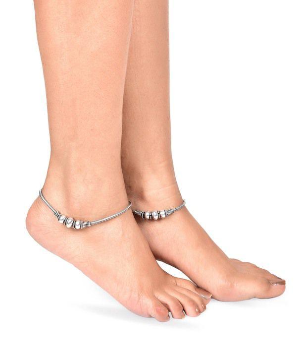Prita German Silver Payal